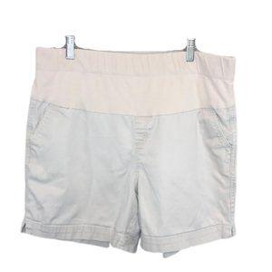 5/$35 Motherhood Maternity Khaki Shorts - XL